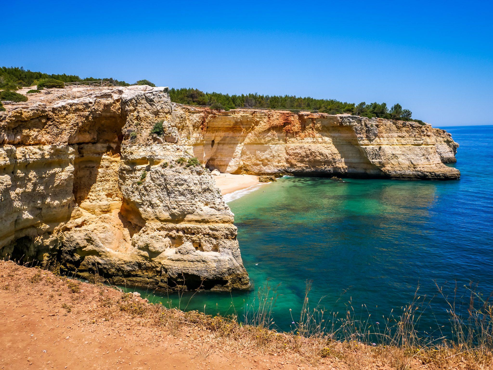Die Klippen an der Algarve Küste sind einmalig!
